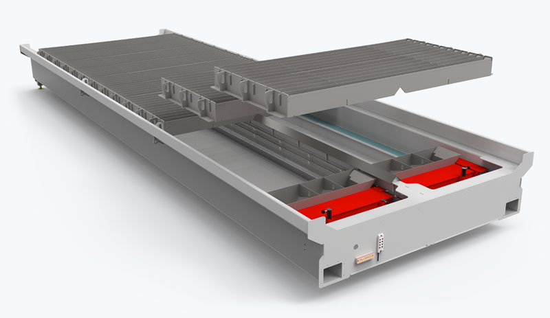 TracKlean Self Cleaning Table for KANO CNC Plasma Cutting Table